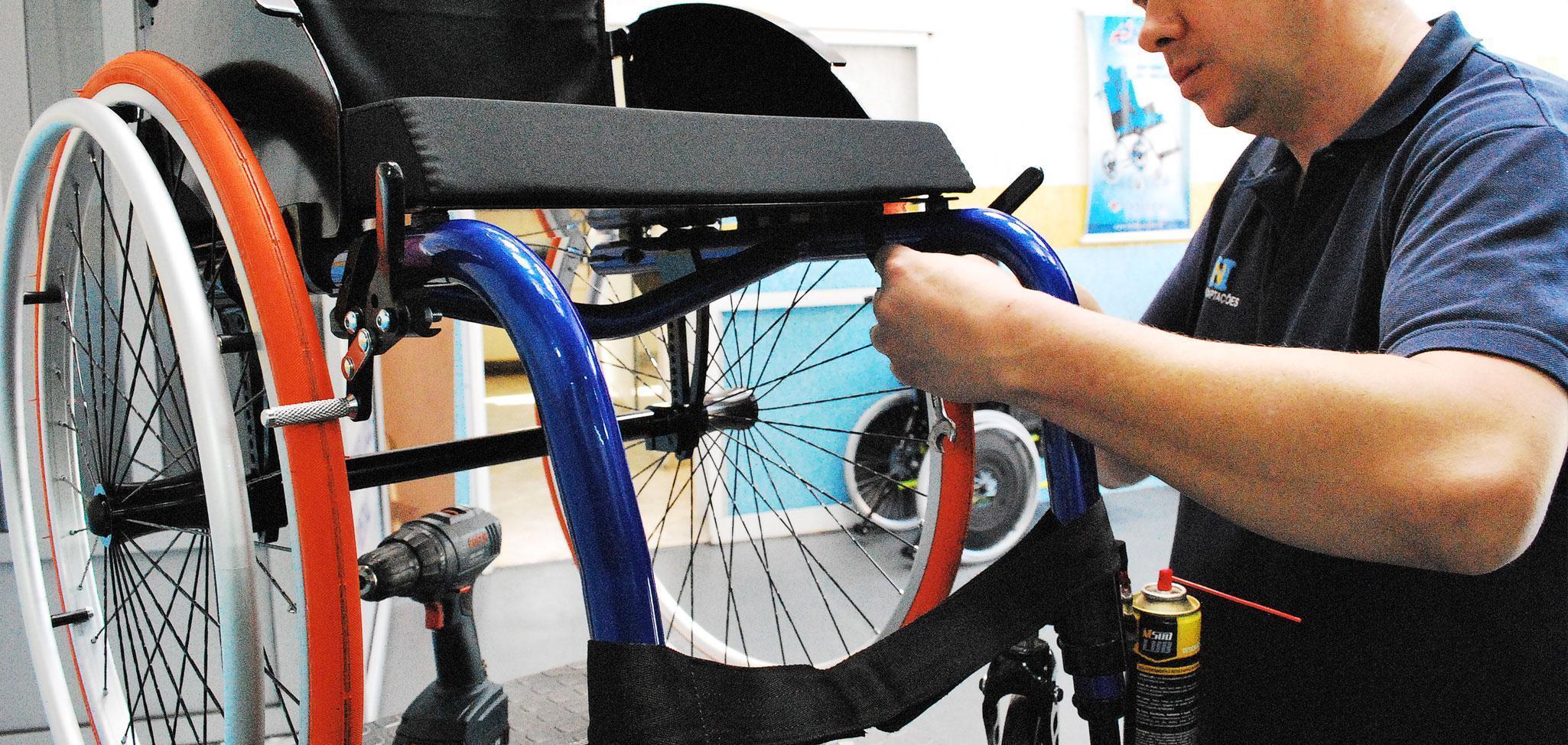 Serviço técnico de cadeiras de rodas