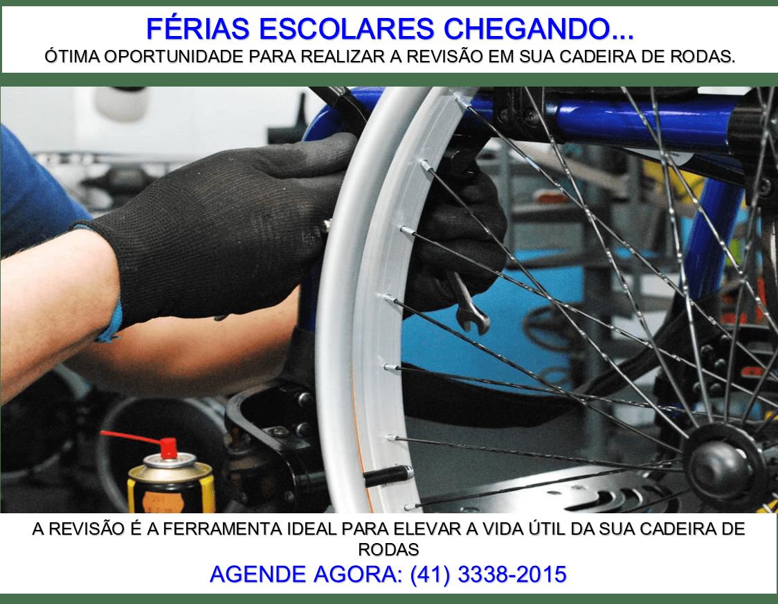 FÉRIAS ESCOLARES E REVISÃO DE CADEIRA DE RODAS